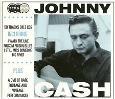 JOHNNY CASH 2 CD'S & DVD INCLUDING I WALK THE LINE, FOLSOM PRISON BLUES & MORE