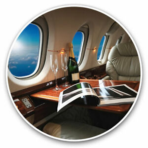 2 x Vinyl Stickers 15cm - Luxury Private Jet Elegant Cool Gift #2512