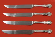 Hampton Court by Reed and Barton Sterling Steak Knife Set 4pc Texas Sized Custom