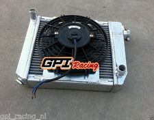 ALUMINUM RADIATOR & FAN MINI COOPER S,ONE,CLUBMAN,850/998/1098/1275 CC GT 59-96