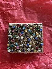 New listing Vintage 1940's Dorset Fifth Avenue Mult-Color Jeweled Powder Compact Case