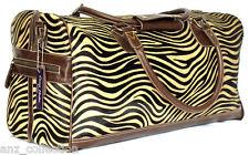Brown MONTGOMERY Zebra Print PELLICCIA Weekend ZAINETTO VIAGGIO PALESTRA Real GENUINE LEATHER BAG