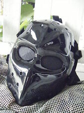 Black Army of two Airsoft BB Paintball Mask Fiberglass Protect Front & Rear b2