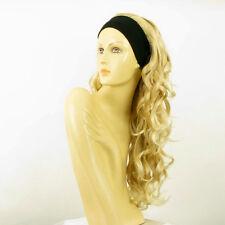 Perruque avec bandeau blond doré méché blond très clair ref KAMELYA en 24BT613