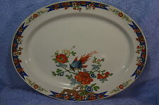 "Wood & Son Bird of Paridise?  Oval Serving Platter 14 1/4"" x 11 1/8"""