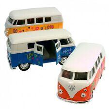 Modellauto VW T1 Flower Power Bus Volkswagen Spielzeugauto Blumen Retro Camper
