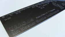 Luthier Tool Straight Edge Engraved Fret Scale Indicator: 44 Scales Mr. Master