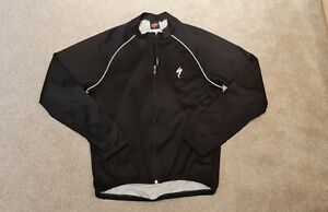 Mens Black Specialized Full Zipped Cycling Top Large