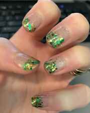 Color Street TOTAL CELT-DOWN Gold Green Glitter Clear Overlay Halloween Holiday