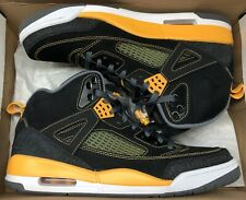 Jordan Spizike Black University Gold Yellow White Cool Grey Kings County Sz 11.5