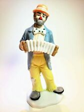 Clown with accordion. Emmett Kelly, Jr Collection by Flambro