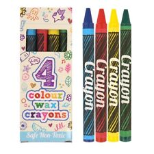 5 Packs Of Children's Kids Wax Crayons Ideal Party Bags Birthday Art Craft
