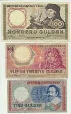 Nederland set 10, 25 en 100 Gulden