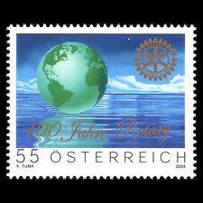 Austria 2005 - 100th Anniv of Rotary International Globe - Sc 1987 MNH