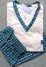 Herren Schlafanzug Pyjama Shorty Thieme Baumwolle Übergröße Creme Gr.68/70 NEU