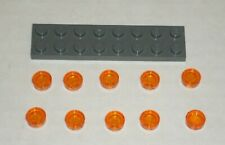 LEGO NEW 1x1 Transparent Orange Round Tile (10x) 4646865 Brick 98138