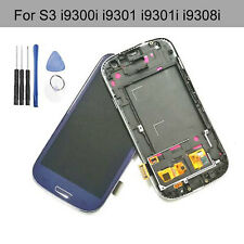LCD Display Touch Digitizer + Frame For Samsung Galaxy S3 Neo i9301 i9301i Blue
