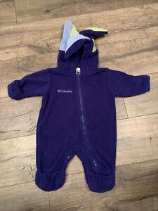 Columbia 0-6 Months Infant Baby Boy Fleece Snowsuit Coat Jacket Bunting EUC