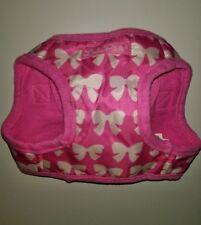 New listing Pink & white Bow Dog Body Harness Vest Pet Lulu Pink puppy no-choke free stepIn