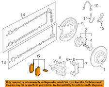 VW VOLKSWAGEN OEM 05-07 Jetta Brake-Rear Pads 1K0698451H