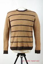 """P262/38 Springfield Men's Warm Woolen Brown Striped Jumper,size L Chest 42"""""""