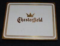 Vintage Chesterfield Tin Cigarette Case Box Tobacco Virginia 1920s Deco White
