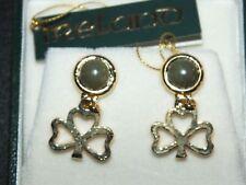Connemara Marble / Irish clover  post earrings