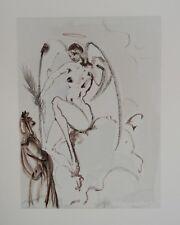 Estampe originale DALI : L'Archange Gabriel, Divine comédie DANTE (Certificat)