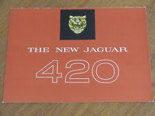 c1967 Jaguar 420 original UK 4 page brochure
