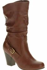 Faded Glory Womens Slouch High Heel Boot Shoe Size 8.5 Brown New Boots Shoes New