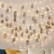 10M Photo Clip 100-Led String Fairy Lights Battery Party Christmas for Home Room