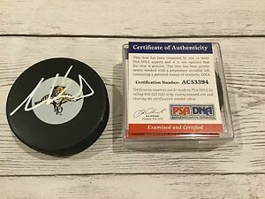 Aaron Ekblad Signed Florida Panthers Hockey Puck PSA/DNA COA Autographed b