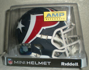 Houston Texans AMP Alternate Series Riddell Speed Mini Helmet NIB