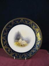 Royal Worcester  Cabinet Plate  Hand painted  Ptarigan Stinton Johnson 1897