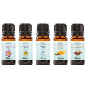 5 x 10ml Fragrance Oil Gift Set - Best Sellers - Nikura