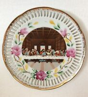 Vintage Last Supper Religious Decorative Plate Wall Hanging NAPCO IM1853