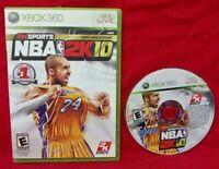 NBA 2K10 Tenth Anniversary -  Microsoft Xbox 360 Rare Game Kobe Bryant Tested