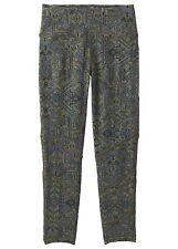Prana Chetan Capri 3/4-Lange Yoga Pants Climbing For Ladies, Cargo Green, Sz. M