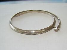 "7.5mm Sterling Silver 19.5"" Omega Necklace - 32.55 Grams - Item# N830"