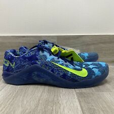 A1401G Nike Metcon 6 AMP Training Shoes Blue Paisley CZ0602-434 Men Size 15 NEW