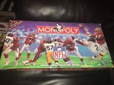 MONOPOLY NFL COLLECTOR'S EDITION, all 8 Pewter Tokens /Football-shaped Dice VGUC