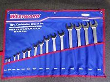 WESTWARD 15-Piece Antislip Combination Wrench Set, Metric (K)