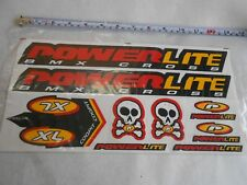 Powerlite BMX Bike Bicycles Decals Set  9 Sticker Red Yellow Black