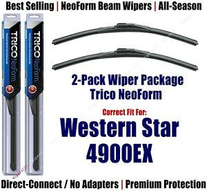 2-Pack Super-Premium NeoForm Wipers fit 2019 Western Star 4900EX - 16200x2