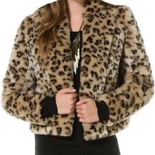Acrylic Animal Print Regular Size Coats & Jackets for Women