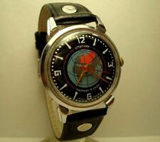Poljot Sputnik mens wrist watch 16 Jewels  I MChZ USSR RARE Serviced Vintage