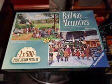RAILWAY MEMORIES - 2 x 500 PIECE JIGSAW PUZZLES by RAVENSBURGER