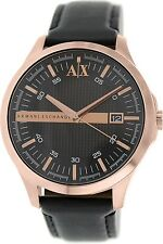 Armani Exchange Men's AX2129 Black Leather Quartz Dress Watch