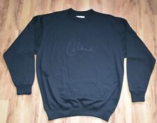 Celine Dion Signature Logo Large Black Crew Neck Sweatshirt New