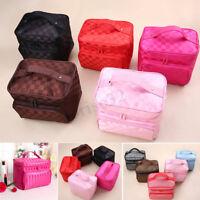 Women Cosmetics Organizer Toiletry  Travel Waterproof Makeup  Portable  SU